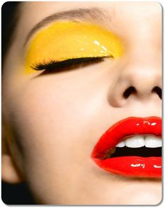 Yellow, red