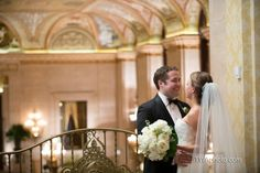 Erin & Andy had a lovely Palmer House Wedding in the fall of 2012. Photo from Timothy Whaley