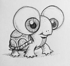 100 Painting Art and Drawing Ideas Malerei Kunst Zeichnungen Cool Art Drawings, Pencil Art Drawings, Doodle Drawings, Art Drawings Sketches, Cute Turtle Drawings, Dragon Drawings, Easy Turtle Drawing, Pretty Drawings, Cool Cartoon Drawings