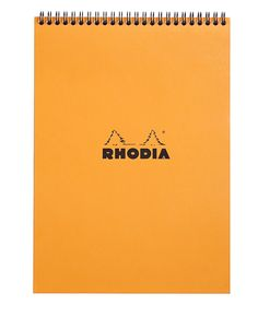 Rhodia Classic Notepads Top Wirebound 8 ¼ x 11 ¾ Lined Orange 80 sheets