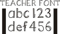 Teach Junkie - 42 Free Fonts for Teachers {Goodie Bag}