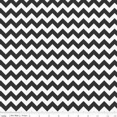 Riley Blake cotton jersey knit small chevron black - white, pattern 1 inch point to poiny, fabric 58 inch wide via Etsy