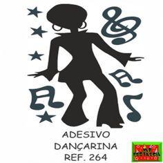 Painel Decorativo Grande Adesivo Festa Retrô Anos 60 70 e 80, Cantor, Casal Dançando, Dançarina e Dançarino Black - 50x70 Escolha o Modelo  - foto 4