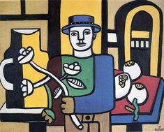 The man in the blue hat - Leger Fernand