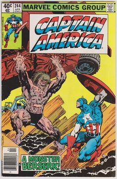 Captain America #244 Marvel Comics VF- 7.5