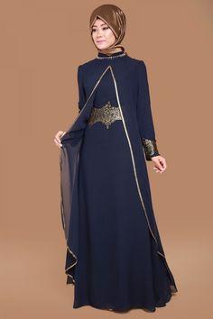 Varak Detay Çift Kat Şifon Abiye Laci Ürün Kodu: RZ6061 --> 129.90 TL Abaya Fashion, Denim Fashion, Fashion Dresses, Islamic Fashion, Muslim Fashion, Model Dress Kebaya, Dress Muslim Modern, Dress Pesta, Abaya Designs