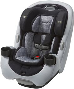 The new Safety 1st Grow and Go EX Air, offers a safer and more comfortable ride with extended use at each stage; including up to 50 pounds rear-facing and 100 pounds in the belt-positioning booster mode. Remember, the safest place to install a car seat, rear or forward-facing, is typically in the center of the rear seat.