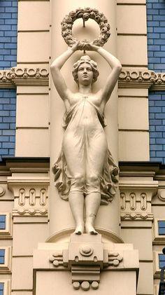 Art Nouveau architecture, Riga by Alaskan Dude, via Flickr