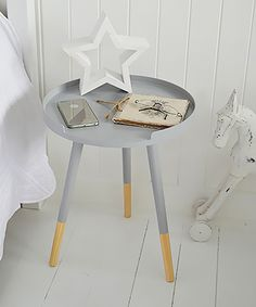 Simple Scandi cottage grey side table