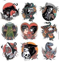 Traditional Tattoo Flash Art, Traditional Tattoo Old School, Traditional Tattoo Design, American Traditional Tattoos, Dope Tattoos, Body Art Tattoos, Small Tattoos, Sleeve Tattoos, Vintage Tattoo Art
