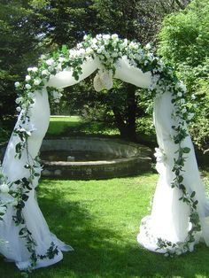 Wedding arch (white and royal blue tool and glitter) I lo e this.even if I do put it on the Inside
