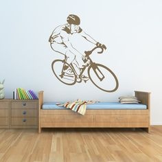 Brighten up any wall in your room with an easy to apply wall sticker. Available in up to 8 sizes and 37 colours you