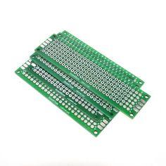 Free Shipping Dropshipping 4PCS 5x7 4x6 3x7 2x8cm double Side Copper prototype pcb Universal Board Fiberglass board for Arduino