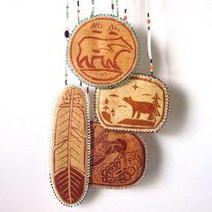 Birch Bark Medallions by Chuck Stone Boy