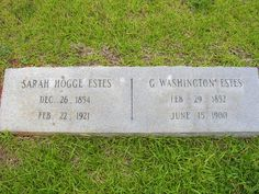 Born in 26 Dec 1854 and died in 22 Feb 1921 Leeds, South Carolina Sarah Hogge Estes Find A Grave, George Washington, Leeds, Ancestry, South Carolina, Outdoor, Outdoors, Outdoor Games, The Great Outdoors