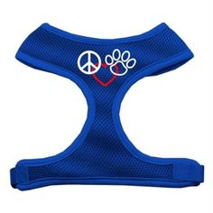 Mirage Pet Products Peace, Love, Paw Design Soft Mesh Dog Harnesses, Small, Blue *** You can find more details by visiting the image link.