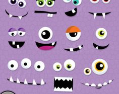 Monster Eyes Cute Printable Birthday Party by JWIllustrations