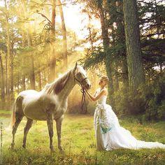 girl-horse-animal-forest-beautiful-vegetation-dress-ruffles-fashion - Sonoma Christian Home Horse Wedding, Wedding Dress, Prom Dress, Just Dream, Moon Goddess, Celtic Goddess, Horse Photography, Photography Lighting, Fashion Photography