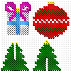 Perler bead Christmas ornament patterns: