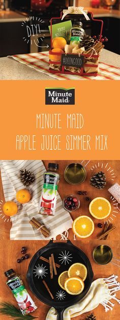 This Minute Maid Apple Juice Simmer Mix recipe is so easy to create at home and a great gift idea to recognize a parent or friend in your life! For instructions and a free printable click here.