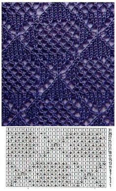 Save those thumbs Lace Knitting Stitches, Crochet Stitches Patterns, Knitting Charts, Lace Patterns, Knitting Designs, Stitch Patterns, Crochet Yarn, Pulls, Points