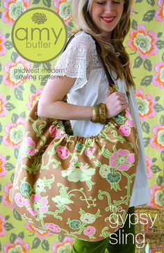Free Fabric Handbag Patterns | ... Bag Sewing Pattern by Amy Butler, FREE shipping with fabric purchase