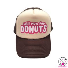Items similar to Will Run for Donuts Trucker Hat on Etsy be72d8b0a3c1