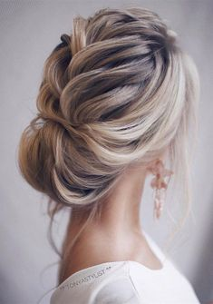 updo elegant wedding hairstyles for long hair #elegantweddings