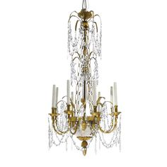 c1810 A Baltic Empire ormolu, silvered and cut-glass eight-light chandelier circa 1810 Estimate  15,000 — 20,000  USD. unsold