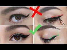 Eye Makeup To Make Brown Eyes Look Lighter upon Winged Eyeliner Stamp Diy Eraser not Eye Makeup Help near Eye Makeup Look Dark little Eyeliner Tutorial Cat Eye Eyeliner Make-up, Eyeliner Trends, Eyeliner For Hooded Eyes, Purple Eyeliner, Hooded Eye Makeup, Eye Makeup Tips, Glitter Eyeshadow, Eyeshadow Palette, Eyeliner Hacks