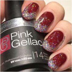 Glitter Gradient with Pink Gellac
