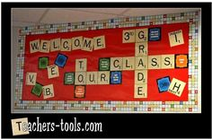 Back to school 3rd grade bulletin board