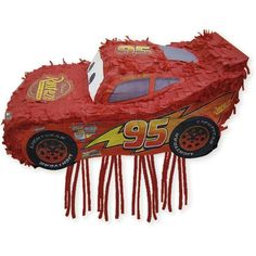 Vroom! Vroom! This Disney Cars 2, 3-D Piñata features man-about-the-track Lightning McQueen. Each 17 x 8.75 inch piñata includes pull strings so the kids can take turns or pull all the strings at once