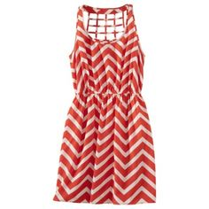 Xhilaration® Juniors Open Weave Sleeveless Dress - Assorted Colors... obviously, I want some relatively inexpensive chevron clothing item.