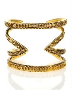 House of Harlow cutout cuff has great visual appeal
