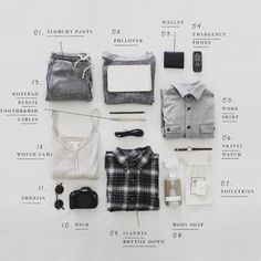 Flatlay Inspiration · via Custom Scene · What I'm Packing - The Denizen Co. Flat Lay Inspiration, Things Organized Neatly, Flat Lay Photos, Slouchy Pants, Mein Style, Flat Lay Photography, Capsule Wardrobe, Mens Fashion, Fashion Site