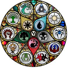Magic the Gathering - Stained Glass Art Print