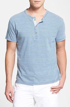 Men's Tailor Vintage Short Sleeve Stripe Henley