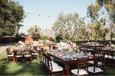 outdoor reception http://greenweddingshoes.com/parisian-countryside-wedding-in-cali-logan-john/