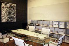 Sala de reuniones con #mobiliario de ICF en el showroom de Espacio Aretha tras la presentación de la nueva colección de la firma italiana.