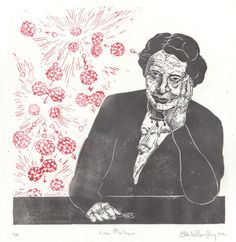 Lise Meitner and Nuclear Fission Linocut History of by minouette, $35.00