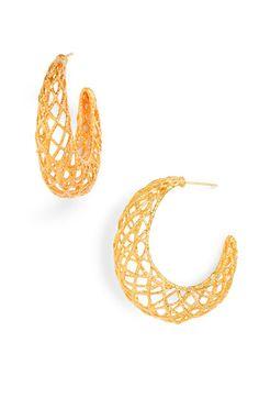 Alexis Bittar 'Elements' Woven Gold Hoop Earrings