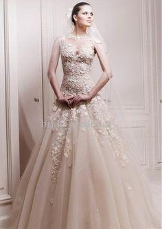 Lace wedding gown| Ballet wedding dress idea