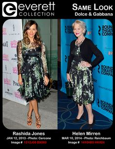 Stunning Ladies, Same Look: Rashida Jones and Helen Mirren Wearing Dolce & Gabbana
