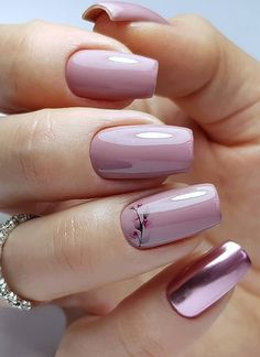 Pretty Natural Short Square Nails Design For Summer Nails - Latest Fashion Trends For Woman Opi Gel Nails, Pink Nails, Acrylic Nails, Square Nail Designs, Nail Art Designs, Nails Design, Semi Permanente, Short Square Nails, Nails Only