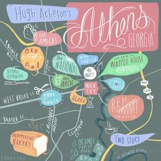 24 Hours in Athens, GA via Design Sponge Guide from Hugh Acheson // perfect for anyone going through the best town in Georgia!