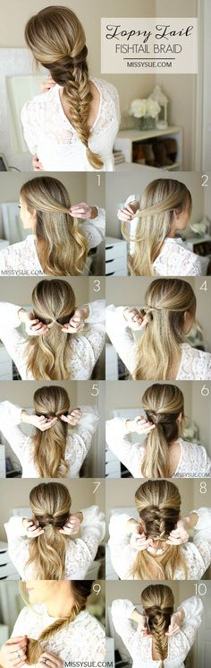 Topsy Tail Fishtail Braid