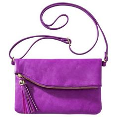Love this bag, the material, it's color, and its amazing price {only $20 bucks}!  Seriously, I am about to have a shopping spree on Target.com.  -tr  Xhilaration® Crossbody Handbag with Tassle - Pink