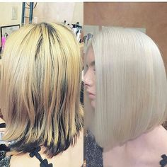 @Regrann from @eclipsesalonsf - It was fun to transform Calessita's hair as she really wanted a platinum blonde! But she had dye her hair black underneath and brassy up on top, I begin using @schwarzkopfusa blonde me with 30vol and 40 vol peroxide with @olaplex No 1 And we have to bleach twice!