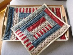 Quilted Placemats. Love the fabrics used!